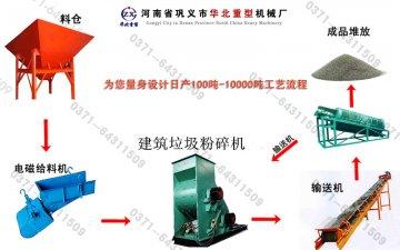 建筑垃圾工艺流程(电磁给料机)